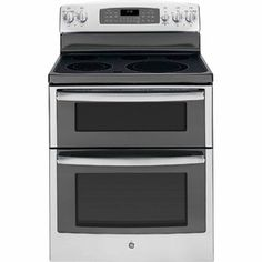 GE Double Oven Electric Range JB850SFSS Ranked best value for electric stove:easiest electric range to use, thanks to its controls. Speedy boiling and two ovens at this price is impressive.