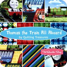 Thomas the Train fabric! I can see a little boy apron & sleeping pants in this!