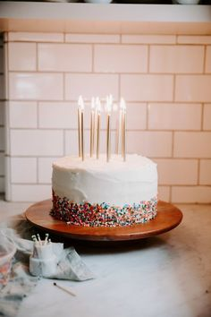classic sprinkle cake