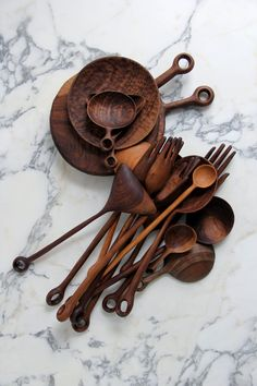 beautiful handmade wooden kitchen tools