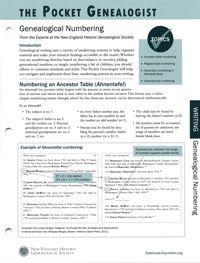 The Pocket Genealogist: Genealogical Numbering