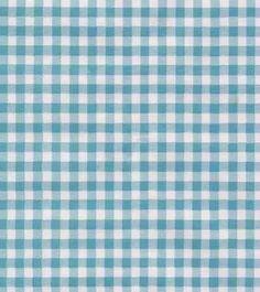 Oilcloth - Gingham Sky Blue