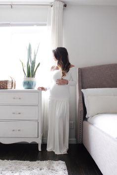 Vestido de maternidad equipadas Vestido de manga por EmbieBaby