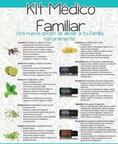 Botiquin natural con aceites esenciales doterra kit medico familiar