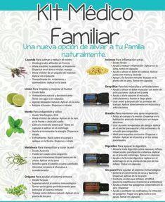 Botiquin natural con aceites esenciales doterra kit medico familiar