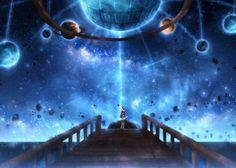 Anime Galaxy, Scenery Wallpaper, Anime Scenery, Sword Art Online, All Art, Night, Beautiful, Pixiv, Cosmic