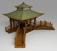 The Chinese pergola with bridges