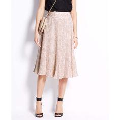 Ann Taylor Tall Flutter Print Skirt $129