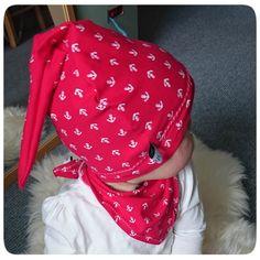 Eine Zipfel-Knoten-Mütze für's Baby nähen mit Freebook – Mama in Essen