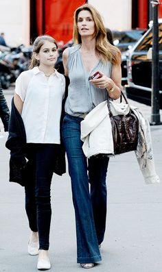 11+Stylish+Celebrities+Whose+Kids+Look+Just+Like+Them+via+@WhoWhatWear | Cindy and her kid are the most look alike I think ❤️