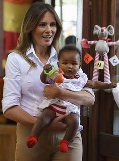 First Lady Melania Trump Ghana 10 2 18 Melania Our