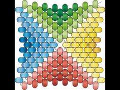Мозаичный четырёхугольник с ндебельскими гранями. Бисерный мульт - YouTube