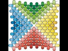 Peyote Stitch Quadrangle with Herringbone Stitch Facets. Beading Cartoon - YouTube
