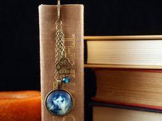 Ornate Antique Gold Finish Wolf Bookmark by WhisperOfAntiqueBlue
