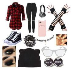 """""""Emo style"""" by xxxmixedxxxemotionsxxx ❤ liked on Polyvore featuring LE3NO, Topshop, Master & Dynamic, Kate Spade, Wet Seal and Forever 21"""