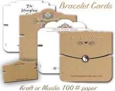 Armband kaarten, kaarten van de aangepaste armband, armband Display, sieraden Display, ambachtelijke Toon Display, pols Band kaarten