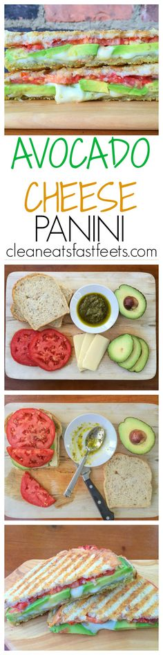 Avocado Cheese Panini - the sandwich which combines creamy avocado, sun-ripened…