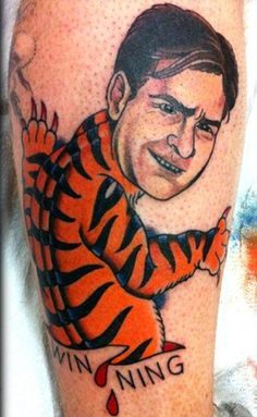 When you ink your body with a wild tiger Charlie Sheen, you also brand yourself with stupidity. Take a look at the most terrible tattoos of all time!