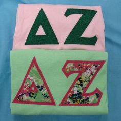 One of our on sale packs, available now. Click through to see how many are available (usually one) and for more information on the items included. It's practically a steal! Custom Greek Apparel, Sorority Outfits, Delta Zeta, Greek Clothing, Bid Day, Big Little, Dorm Ideas, Greek Life, Custom Clothes