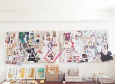 Inspiration board in the Studio  via @Chassity Evans