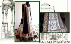 Layered anarkali with embroidery and velvet dupatta