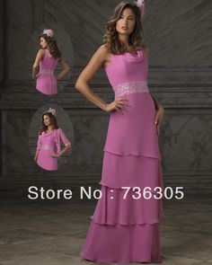 Modest Long Chiffon Mother of the Bride groom dresses With Jacket 2014   122.00 Groom Wedding Dress 832b7f718271