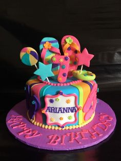 Pool party, summer fun in the sun Birthday Cake - Cake by Caroline ...