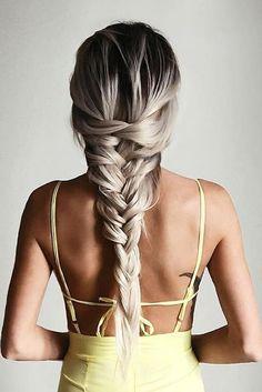 Ash Blonde #LuxyHair braids on @emilyrosehannon <3