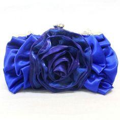 Satin Handmade Evening Handbag Purse Clutch Bag Wedding Bag Party Bag (blue) Melissa. $29.99