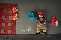 Firefighter hat and boots Fireman Hat by BitofWhimsyCrochet