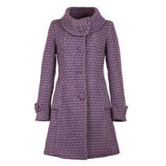 Sweet Turtleneck Long Sleeves Single Breasted Special Grain Elegant Purple Woolen Blend Coat For Women (PURPLE,ONE SIZE) China Wholesale - Sammydress.com