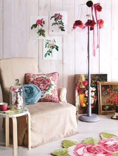 Floral corner.  Styling by Marie Nichols, photography by Craig Wall