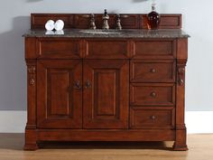 48 Inch Brookfield Warm Cherry Vanity with Drawers
