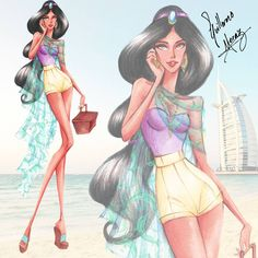 "Guillermo Meraz on Instagram: ""Disney Princess Summer Collection 2015 , ""Jasmine"". Exclusive Collection for @bijouplage . Please visit Guillermo Meraz exposition at Cannes ! Only at Bijou Plage !! http://www.bijouplagecannes.com"""