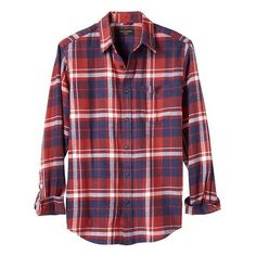 Banana Republic Men Standard Fit Red/Blue Plaid Flannel Shirt (985 CZK) ❤ liked on Polyvore featuring men's fashion, men's clothing, men's shirts, men's casual shirts, mens plaid shirts, mens blue short sleeve shirt, mens blue flannel shirt, mens short sleeve plaid shirts and mens flannel plaid shirts