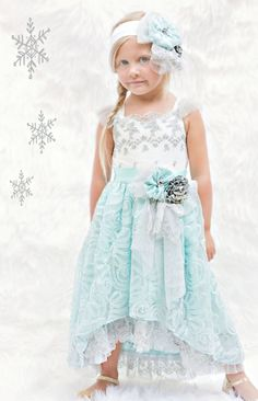 Elsa's Magic Maxi Dress Only at Cassie's Closet to 10 Years Now in Stock Girls Party Dress, Baby Dress, Party Dresses, Toddler Girl Outfits, Kids Outfits, Girls Christmas Dresses, Blue Lace, Cassie, 10 Years