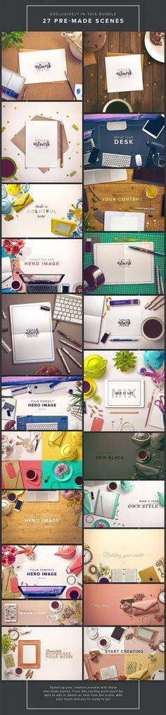 Custom Scene - Bundle Edition by Román Jusdado #design Download: https://creativemarket.com/romanjusdado/317262-Custom-Scene-Bundle-Edition?u=ksioks