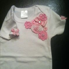 Onesie that i made for a baby girl!