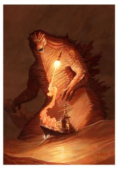 """lemmiwinx-gerbil-king: """" Godzilla by Vaejoun """" King Kong Vs Godzilla, Godzilla Godzilla, Transformers, All Godzilla Monsters, Godzilla Wallpaper, Classic Monsters, Pokemon, Fantasy Characters, Anime Characters"""