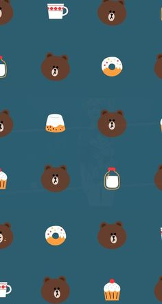 line brown wallpaper laptop Lines Wallpaper, Bear Wallpaper, Kawaii Wallpaper, Pattern Wallpaper, Wallpaper Backgrounds, Line Brown Bear, Brown Line, Parda, Friends Wallpaper