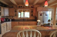 Rustic-Kitchen-with-unfinished-oak-cabinets - Top Inspirations