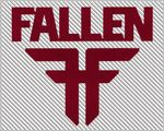 Fallen Footwear sticker - Red die-cut