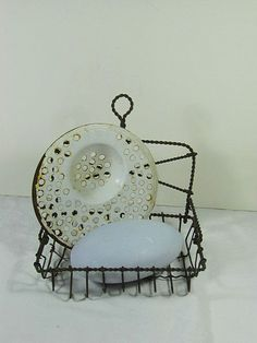 Vintage Wire Soap Holder Twisted Rustic by LavenderGardenCottag