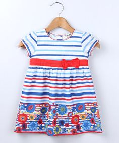 Take a look at this Marine Stripe Border Dress - Infant & Toddler by Beebay on #zulily today!