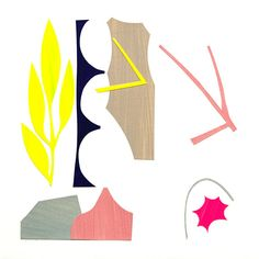 """""""u.d. -3"""" Yasuyoshi Tokida 2014 Collage, cut-out coloured paper on paper 31×31cm"""