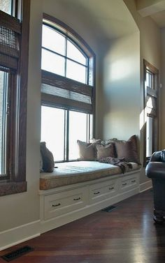 window seat drawers   Living spaces