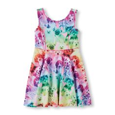 Girls Sleeveless Photo-Real Skater Dress