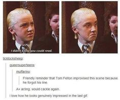 one of my favorite lines from all the HP movie was improvised!