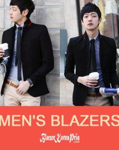 Blazer Korea Pria Casual Red List