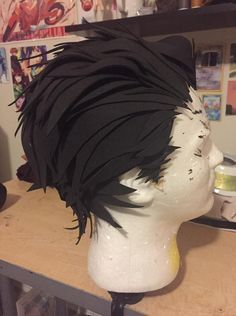 A great tutorial on making a wig out of foam. Especially nice for anime cosplay. #DIY #cosplay #hair
